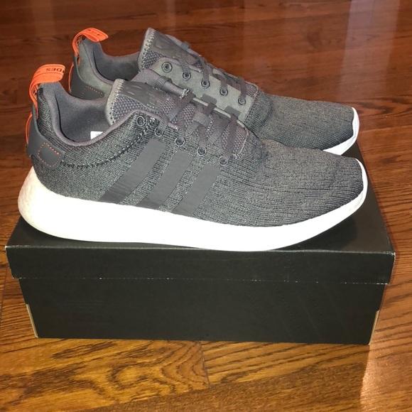 Adidas Shoes Nmd R2 Greyorange Size 11 Poshmark